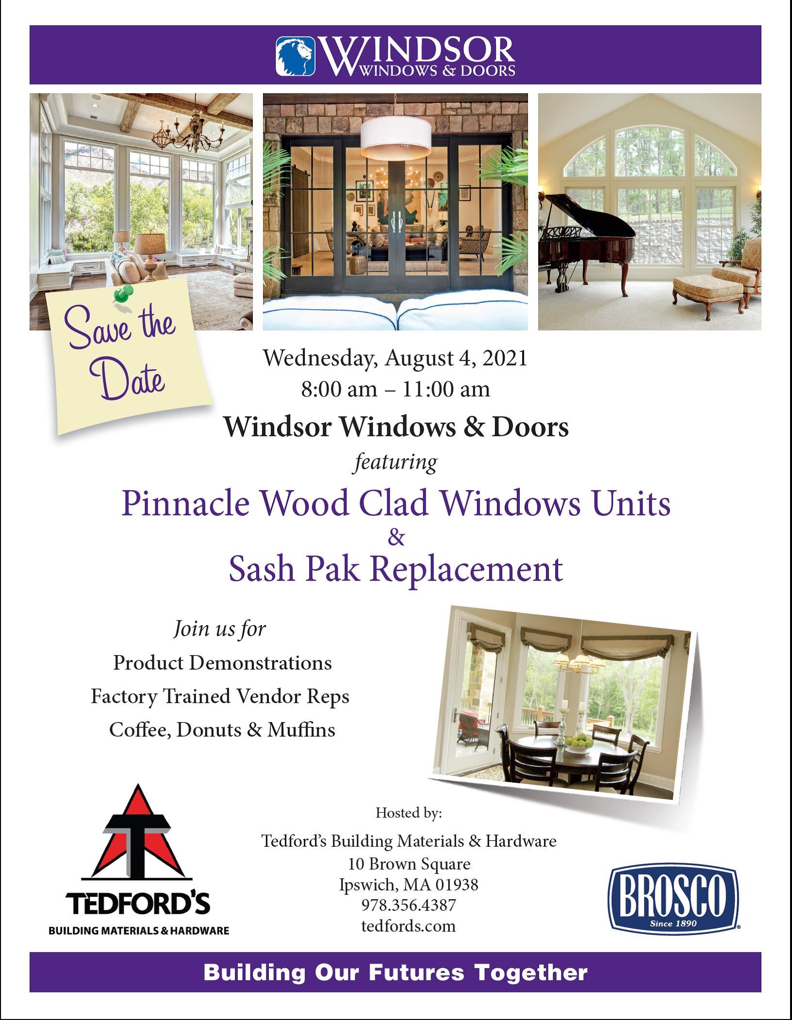 Windsor windows & doors event flyer